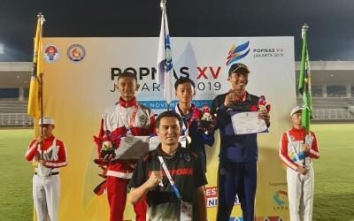 Shanry Diningrat Juara 1 Lari 1500 m Putra pada POPNAS IV Jakarta 2019