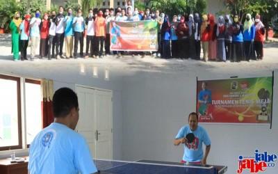 Di Peringatan 40 Tahun, SMA Negeri 1 Manggar Gelar Turnamen Tenis Meja