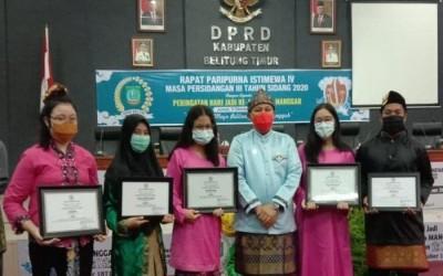 Sains, Seni, dan Sastra Raih Penghargaan dari DPRD Kabupaten Beltim di Hari Jadi ke 149 Kota Manggar