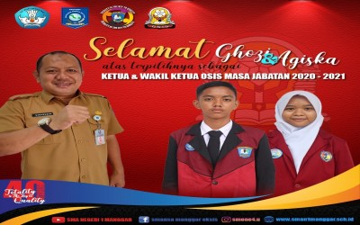Lewat E-Voting, Ghozi dan Agis Sah Pimpin OSIS SMA Negeri 1 Manggar